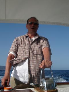 Sardinia on the boat